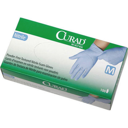 Picture of Nitrile Exam Gloves by Curad