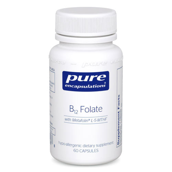 Picture of B12 Folate 60's, Pure Encapsulations