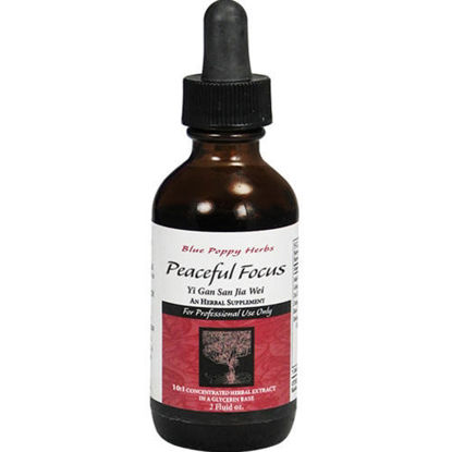 Picture of Peaceful Focus (glycerin tincture) 2oz, Blue Poppy