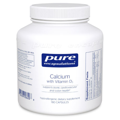 Picture of Calcium with Vitamin D3 180's, Pure Encapsulations