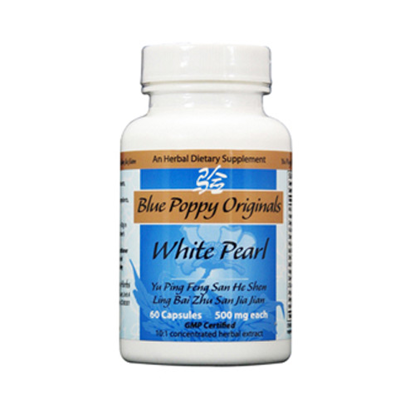 Picture of White Pearl Caps 60's, Blue Poppy