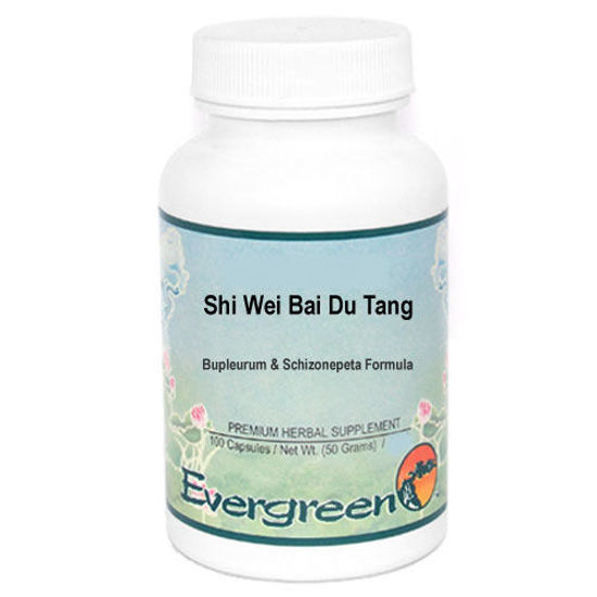 Picture of Shi Wei Bai Du Tang Evergreen Capsules 100's