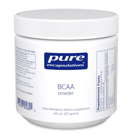 Picture of BCAA (Branched Chain Amino Acids) Powder 227 g., Pure Encap.