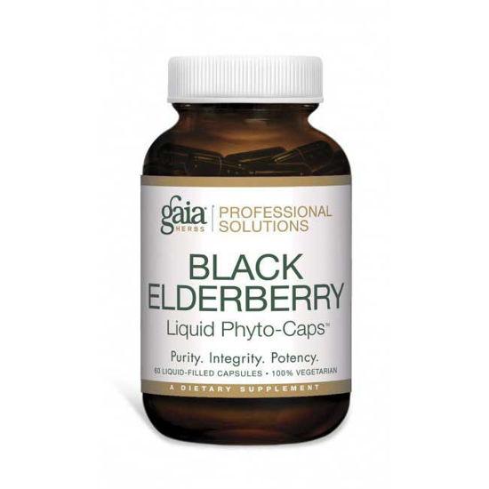 Picture of Black Elderberry 60 caps, Gaia Professional