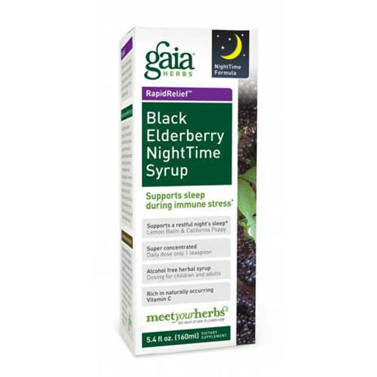 Picture of Black Elderberry Night Time Syrup by Gaia Liquids