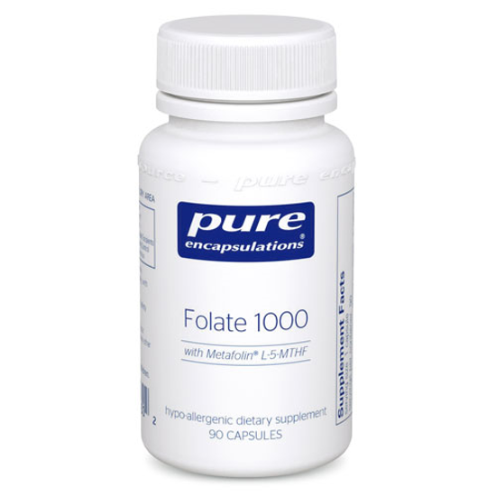 Picture of Folate 1000 90's, Pure Encapsualtions