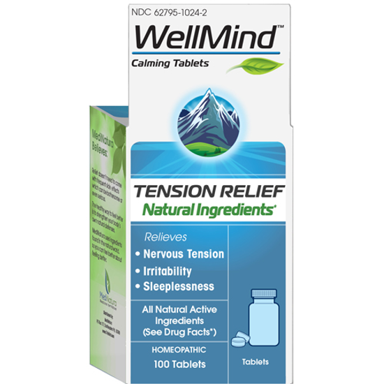 Picture of WellMind Calming (Tension Relief) tabs 100's by MediNatura