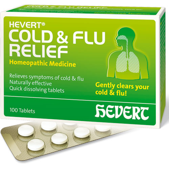Picture of Cold & Flu Relief 100 tabs, Hevert Pharmaceuticals