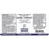Picture of Sore Throat 2 oz. Spray, Ohm Pharma