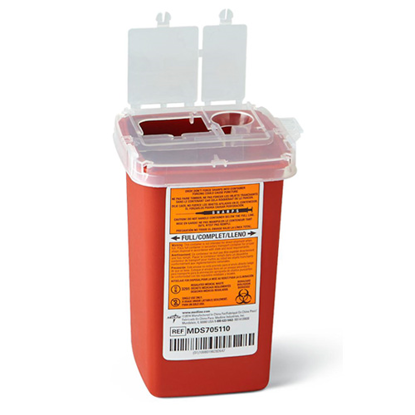 Picture of Sharps (1) Quart Needle Disposal Container