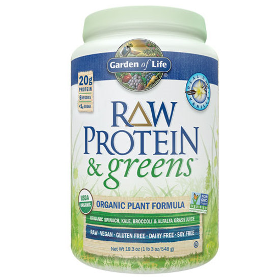 Picture of Raw Protein & Greens (Vanilla) 548g by Garden of Life