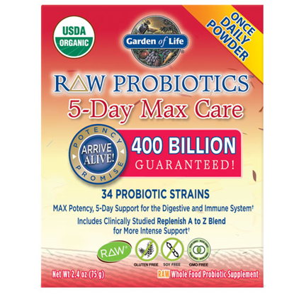 Picture of Raw Probiotics 5 Day Max Care 75g by Garden of Life