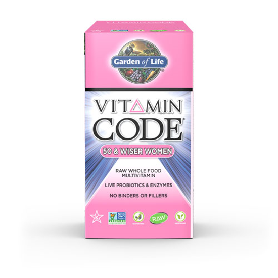 Picture of Vitamin Code Women 50 & Wiser 120 Caps by Garden of Life