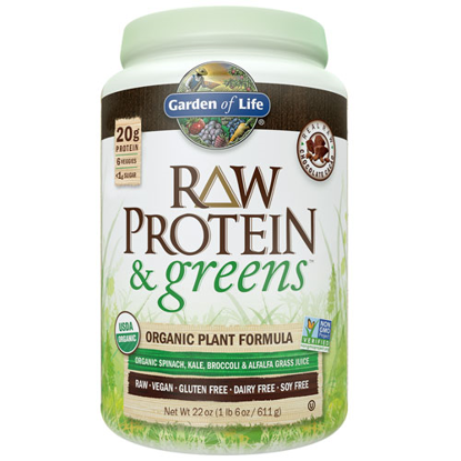 Picture of Raw Protein & Greens (Chocolate) 611g by Garden of Life