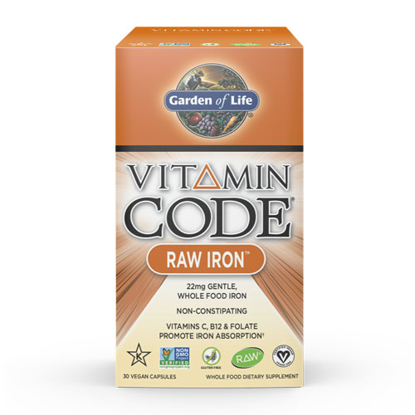 Picture of Vitamin Code Raw Iron 30 Caps by Garden of Life
