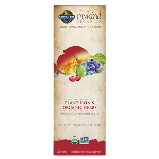 Picture of mykind Organics Liquid Iron (Cranberry-Lime) 8 oz. by GoL