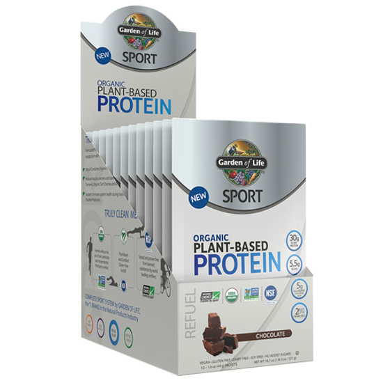 Picture of Sport Organic Protein (Chocolate) 12ct by Garden of Life