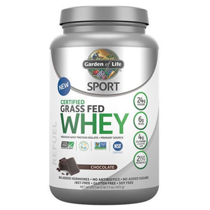 Picture of Sport Grass-Fed Whey Protein (Chocolate) 672g by GoL