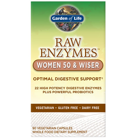 Picture of Raw Enzymes Women 50 & Wiser 90 Caps by Garden of Life