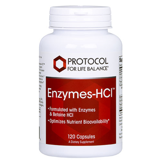 Picture of Enzymes-HCl 120 caps by Protocol