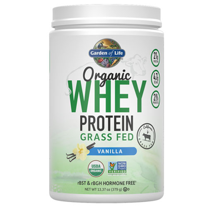 Picture of Organic Grass Fed Whey (Vanilla) 379g by Garden of Life