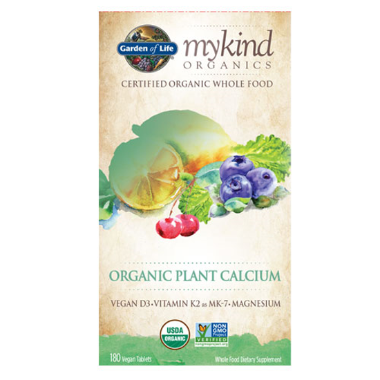 Picture of mykind Organics Calcium 180 Tabs by Garden of Life