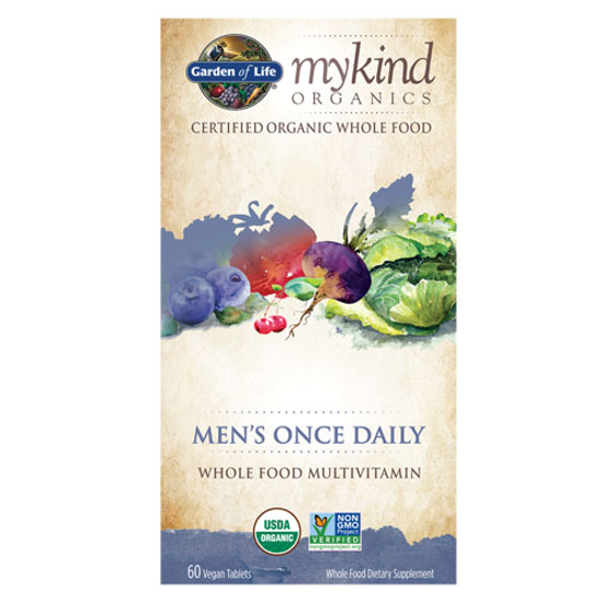 Picture of mykind Organics Men Once Daily 60 Tabs by Garden of Life
