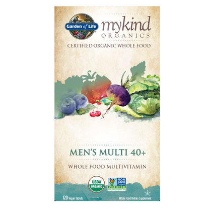 Picture of mykind Organics Men 40+ (120) Tabs by Garden of Life