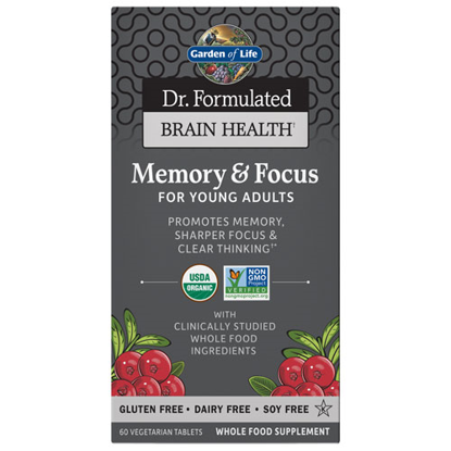 Picture of Dr. Formulated Brain Health Org. Memory/Focus (Young Adults)