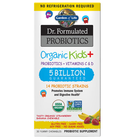 Picture of Dr. Formulated Probiotics Organic Kids (Straw/Banana) by GoL