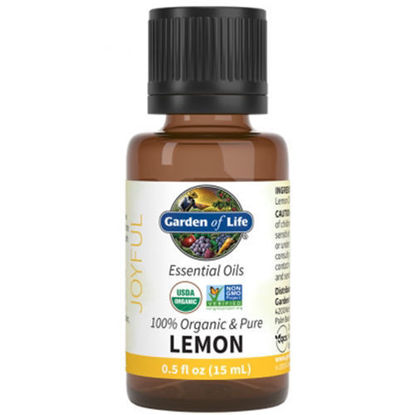 Picture of Organic Lemon Essential Oil 0.5 oz. by Garden of Life