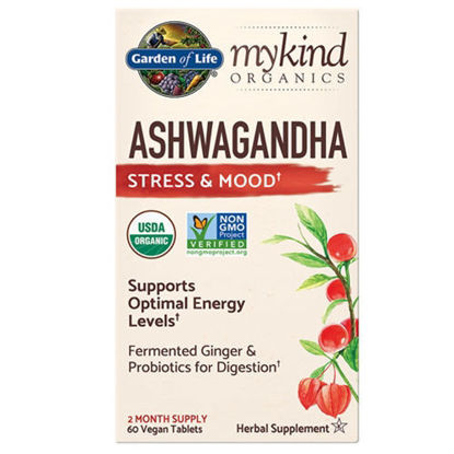Picture of mykind Organics Ashwagandha 60 tabs by Garden of Life