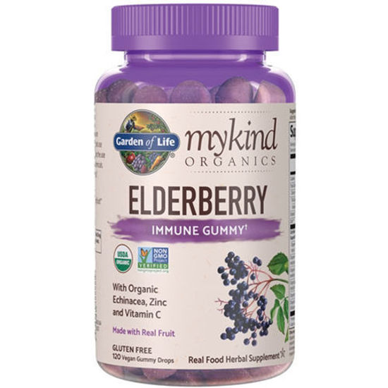 Picture of mykind Organics Elderberry 120 Gummies by Garden of Life