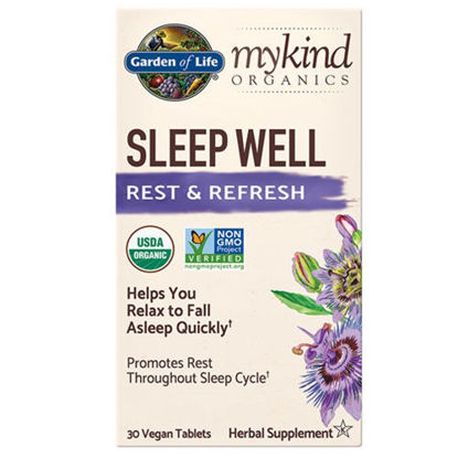 Picture of mykind Organics Sleep Well 30 tabs by Garden of Life