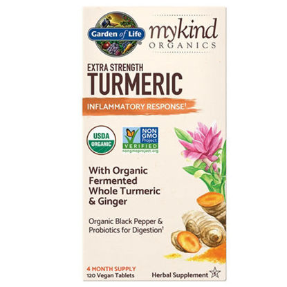 Picture of mykind Organics Extra Strength Turmeric 120 tabs by GoL