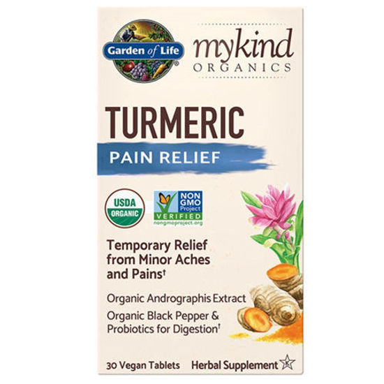 Picture of mykind Organics Turmeric Pain Relief 30 tabs by GoL