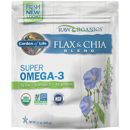 Picture of Raw Organics Flax and Chia Blend 340g by Garden of Life