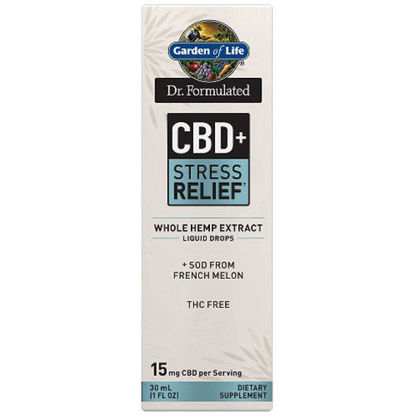 Picture of Dr. Formulated CBD+ Stress 15mg, 1 oz. Drops by GoL