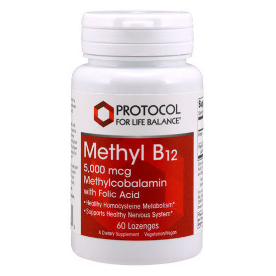 Picture of Methyl B12 (5000 mcg) 60 lozenges by Protocol
