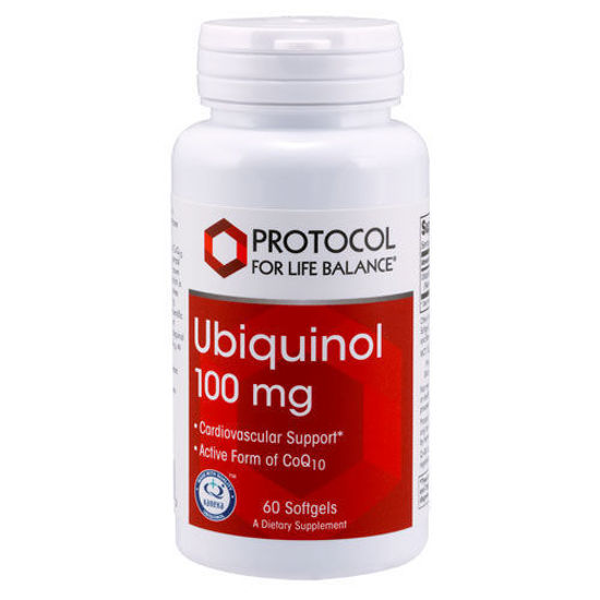 Picture of Ubiquinol (100 mg) 60 softgels by Protocol