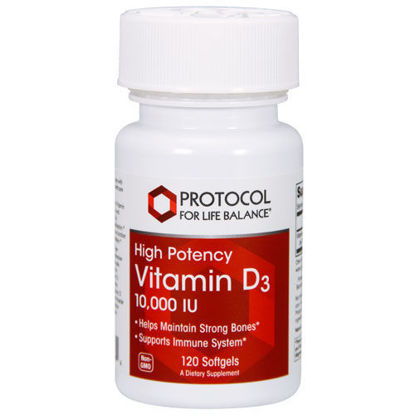 Picture of Vitamin D3 (10,000 iu) 120 softgels by Protocol