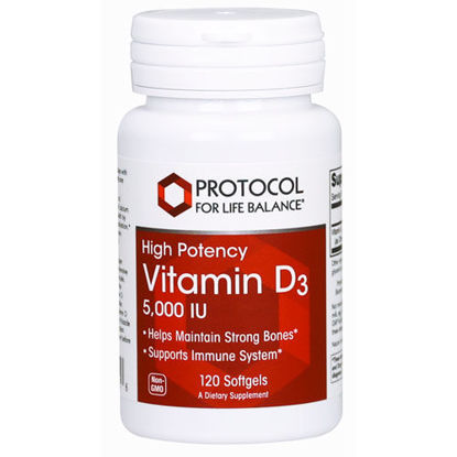 Picture of Vitamin D3 (5000 iu) 120 softgels by Protocol