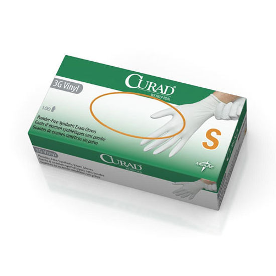 Picture of Curad Powder-Free 3G Vinyl Exam Gloves