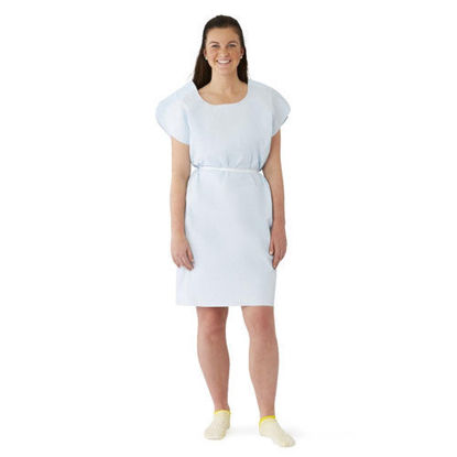 Picture of Exam Gown Light Blue Paper Disposable