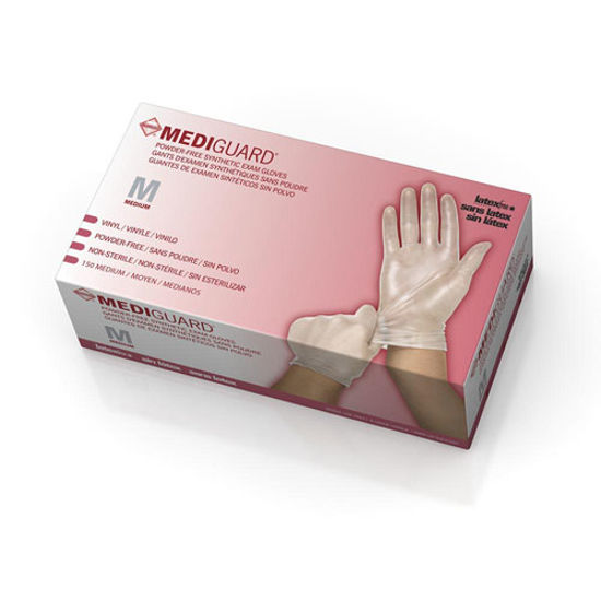 Picture of MediGuard Vinyl Synthetic Exam Gloves Medium