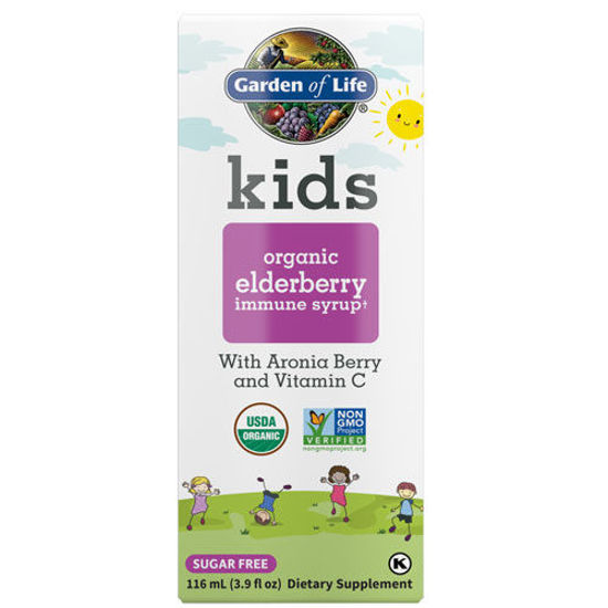 Picture of Kids Organic Elderberry Immune Syrup 3.9 oz. by GoL