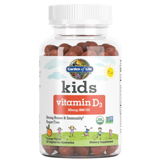 Picture of Kids Organic Vitamin D3 60 Gummies by Garden of Life