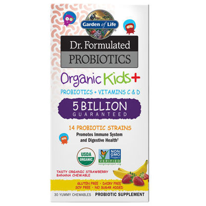 Picture of Dr. Formulated Probiotics Org Kids+ (Strw/Ban) 30 Chw by GoL
