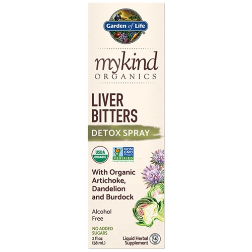 Garden of Life mykind Organics Liver Bitters Detox 2 oz. Spray by GoL