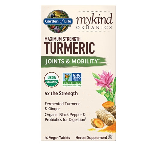 Garden of Life mykind Organics Maximum Strength Turmeric 30 tabs by GoL